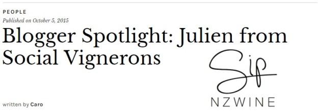 Blogger Spotlight Julien Miquel of SocialVignerons.com by Sip NZ Wine