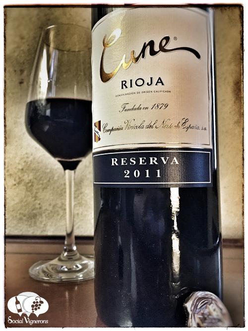 2011 CVNE Compnia Norte Espana Cune Reserva Rioja front label Spain Tempranillo wine vino social vignerons small
