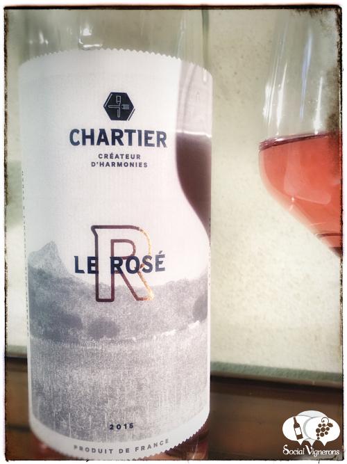2015 Francois Chartier Le Rose Pays d'Oc IGP front label wine bottle glass social vignerons small