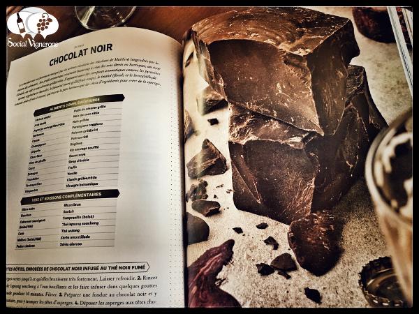 L'Essentiel de Chartier Francois Dark Chocolate Noir page Food Pairing Book Best Sommelier World Social Vignerons