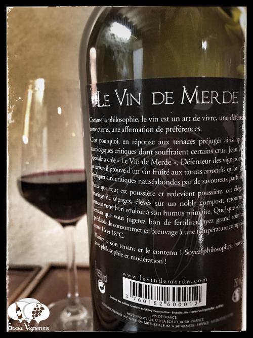 Le Vin de Merde Shit Wine Jean Marc Speziale France back label tasting review social vignerons