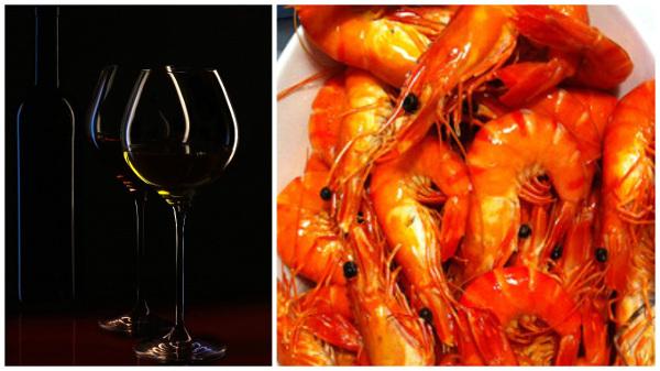 Wine Pairing seafood prawns social vignerons