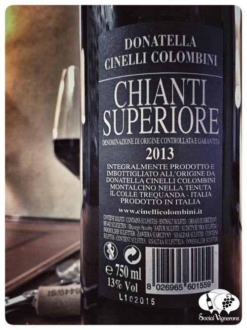 2013 Donatella Cinello Colombini Fattoria Il Colle Chianti Superiore red wine back label social vignerons