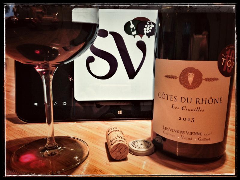 2013 Les Vins de Vienne Cotes du Rhône Les Cranilles, France