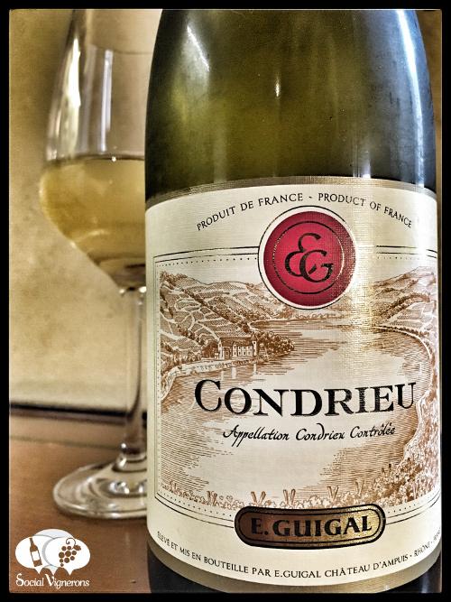 2014 E. Guigal Condrieu Viognier Rhone rance wine front label bottle social vignerons small