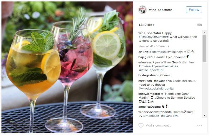 Wine Spectator Instagram #FirstdayOfSummer