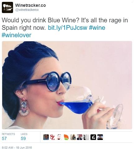 Winetracker blue wine