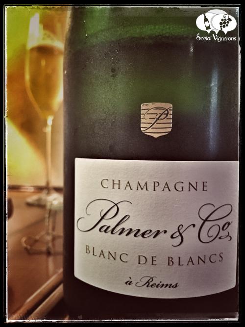 Palmer & Co Champagne Blanc de Blancs Chardonnay front label Reims France sparkling wine tasting