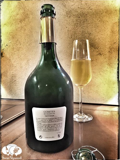 2006 Taittinger Comtes de Champagne Blanc de Blancs Chardonnay Grand Cru sparkling wine back label