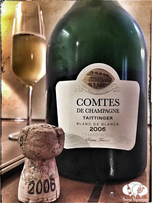 2006 Taittinger Comtes de Champagne Blanc de Blancs Chardonnay Grand Cru sparkling wine front label