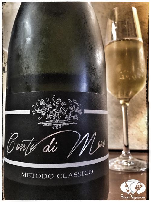 2013 Bellavista Toscana Conte di Moac Spumante Metodo Classico Brut sparkling wine front label Italy