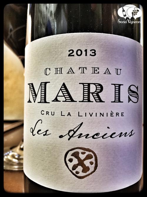 2013 Chateau Maris Minervois La Livinière Les Anciens Languedoc wine front label