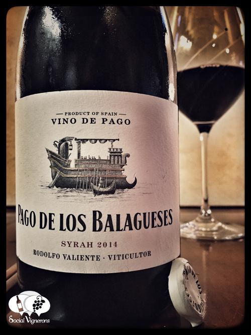 2014 Bodegas Vegalfaro Pago de los Belaguese Syrah WIne Front label Spain vino
