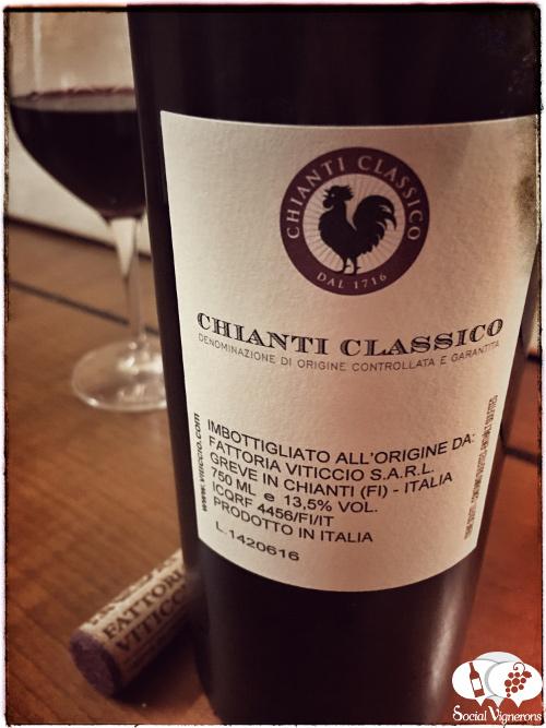 2014 Fattoria Viticcio Chianti Classico, Tuscany wine sangiovese back label black rooster social vignerons