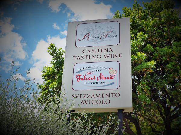 Cantina Bellavista Toscana sign