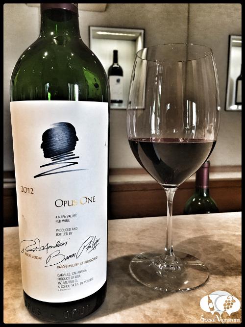 Opus One Winery wine Bordeaux blend 2012 vintage napa valley bottle glass vertical