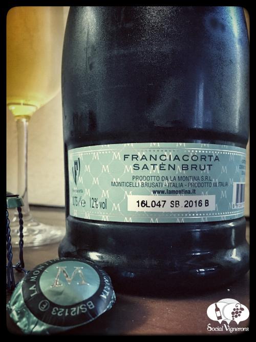 La Montina Franciacorta Satén Brut back label Sparkling from Italy Piedmont bollicine