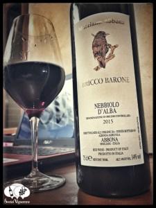 2015 Azienda Marziano Abbona Ricco Barone Nebbiolo d'Alba front label bottle glass