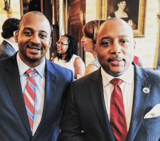 Talking with @TheSharkDaymond at The White House #WHDemoDay