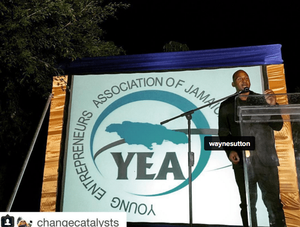 Speaking at the annual award ceremony of the Young Entrepreneurship Association of Jamaica.