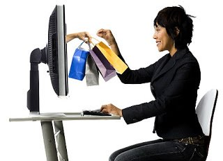 Image Of Woman Shopping Online