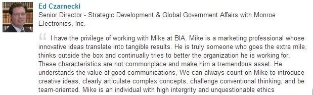 Edward Czarnecki recommends Michael Hackmer