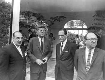 Wilbur Cohen with President Kennedy in Miami Beach in 1963