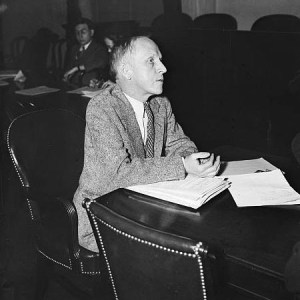 At security hearing. Paul Kellogg, New York City, appears before the Senate Finance Committee considering the Economic Security Act. 2/14/35.