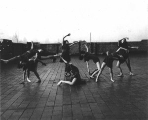 Girls Dancing on Roof
