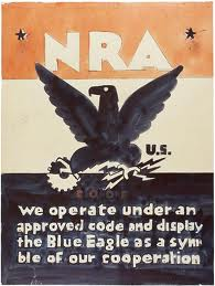 Graphic of NRA Blue Eagle, ca. 1933