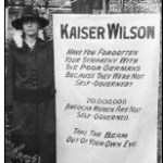 """""""During World War I, militant suffragists, demanding that President Wilson reverse his opposition to a federal amendment, stood vigil at the White House and carried banners such as this one comparing the President to Kaiser Wilhelm II of Germany."""