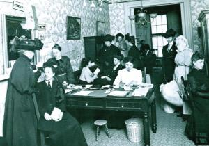 Office of the Travelers Aid Society, 1909, New York City
