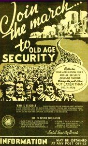 1936 Poster Promoting Old Age Security