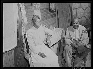 Couple Receiving Old Age Pension, Penfield, GA, 1941