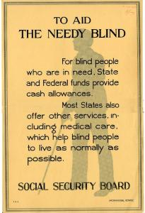 1940 Poster for Aid for the Blind