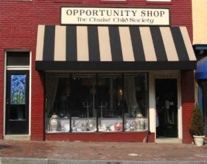 All proceeds of the Society's consignment shop, which still operates in its original Georgetown neighborhood location today, support its work
