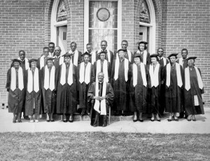 The A.M.E. Church was the center of cultural life for many communities throughout the decades and continues to be in many areas. Exceptional music has been a part of this cultural tradition, including choirs like that of Mount Zion A.M.E. shown here. (North Carolina, 1942)