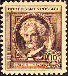 A Postage Stamp Honoring Mark Twain