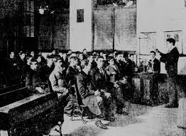 New Jewish immigrants are sent to the Alliance school fresh from their Russian homes. Photo courtesy of Educational Alliance.