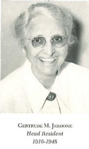 Gertrude M. Jerdone, Head Resident, 1916-1948