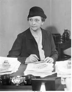 Secretary of Labor, Frances Perkins