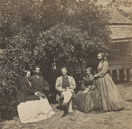 Group at Laura Towne's Residence (Towne is second from the right)