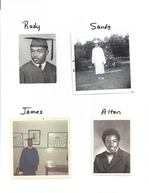 Graduation pictures: The Stokes children all graduated from high school, unlike many of their peers. Photo courtesy of VCU Library.