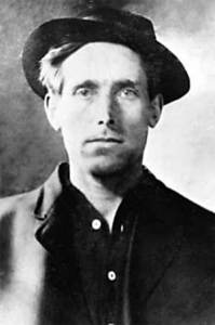 Photograph of Joe Hill wearing a hat