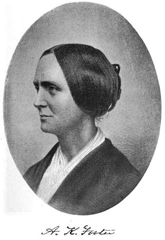 Abby Kelley Foster, Anti-Slavery Reformer. Shown in profile with her hair pinned up.