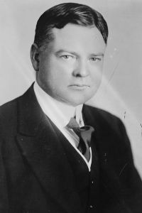 Herbert Clark Hoover as a young man