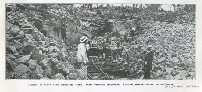 Convict labor at the State Lime Grinding Plant, Virginia