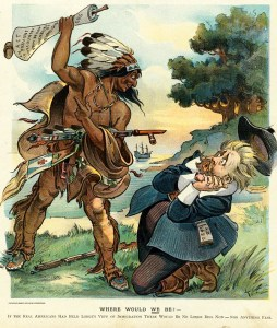 Political cartoon from Puck with Henry Cabot Lodge labeled