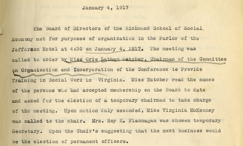detail of typed meeting minutes