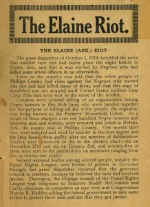 The Elaine (Arkansas) Riot. First page of text